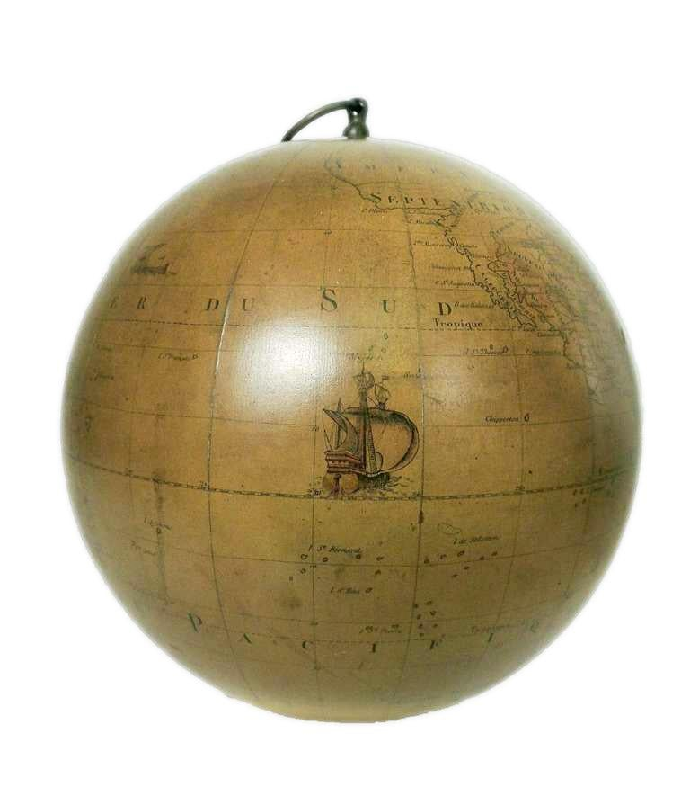 Terrestrial Globe French 18th Century, Most Unusual Swinging Structure For Sale 2