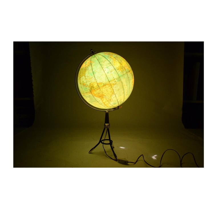 Terrestrial Globe Illuminated from the Inside, 1950s For Sale 9