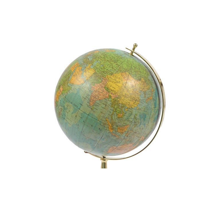 Italian Terrestrial Globe Illuminated from the Inside, 1950s For Sale