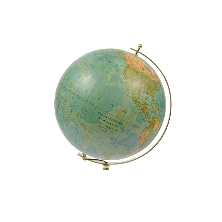 Terrestrial Globe Illuminated from the Inside, 1950s For Sale 1