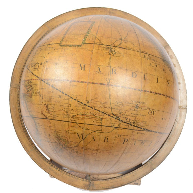 Terrestrial Globe Made According to the Knowledge of Giovanni Maria Cassini 1843 For Sale 6