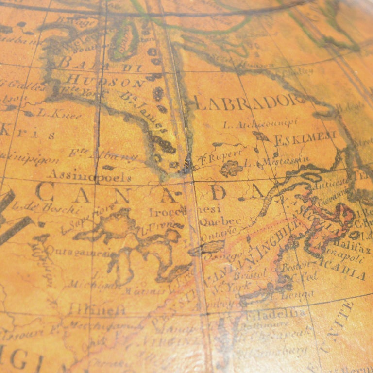 Terrestrial Globe Made According to the Knowledge of Giovanni Maria Cassini 1843 For Sale 7