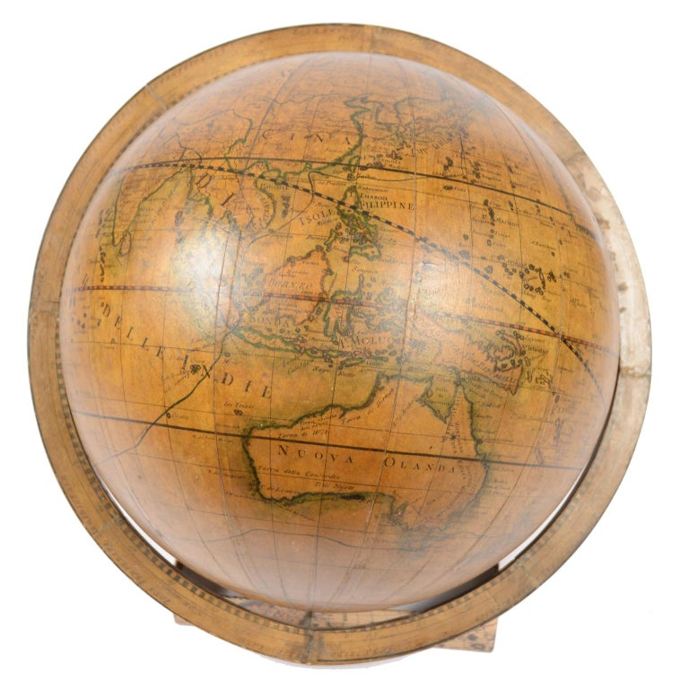 Terrestrial Globe Made According to the Knowledge of Giovanni Maria Cassini 1843 For Sale 3
