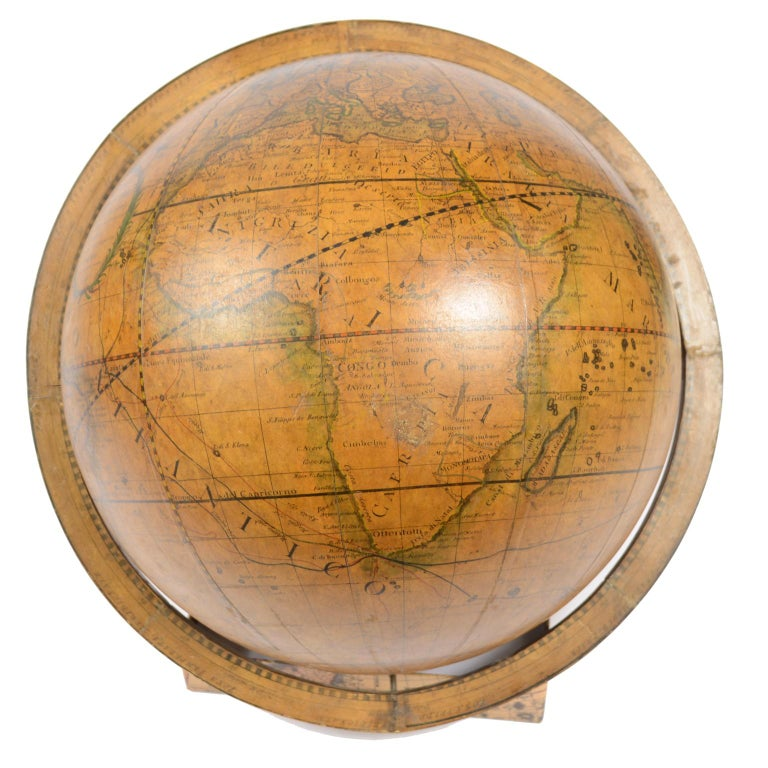 Terrestrial Globe Made According to the Knowledge of Giovanni Maria Cassini 1843 For Sale 4