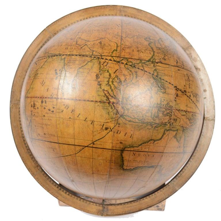 1843 Antique Terrestrial Globe  According to the Knowledge of Giovanni M Cassini For Sale 4