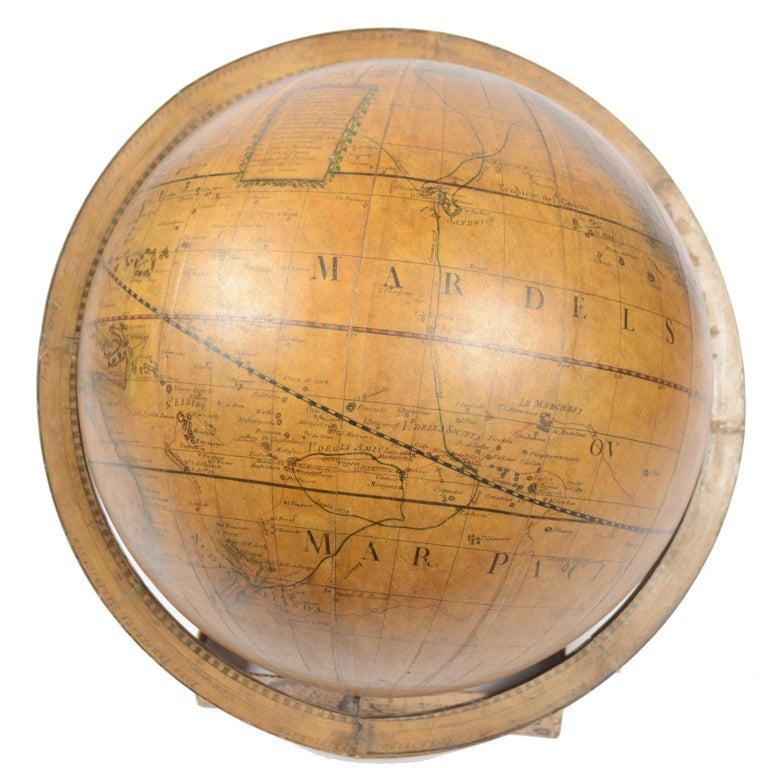 1843 Antique Terrestrial Globe  According to the Knowledge of Giovanni M Cassini For Sale 5
