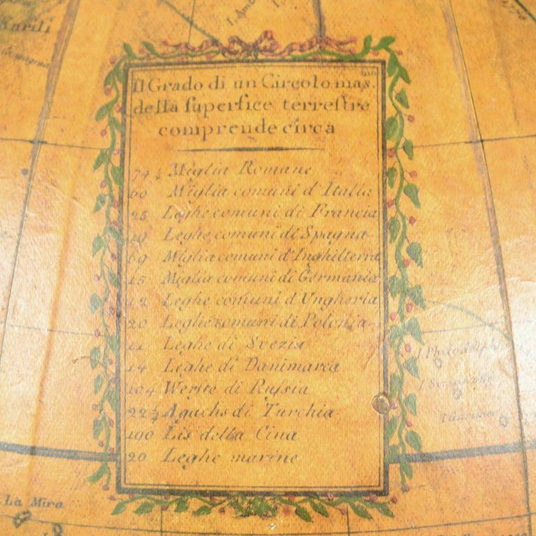 1843 Antique Terrestrial Globe  According to the Knowledge of Giovanni M Cassini For Sale 9
