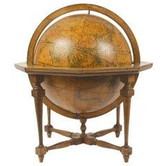 Terrestrial Globe Made in 1843 According to the Knowledge of Giovanni M. Cassini