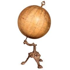 Terrestrial Globe Merzback & Falk from Brussels from 19th Century Dated 1880