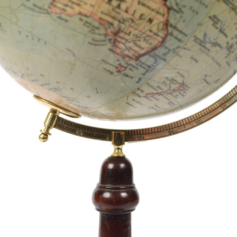 Terrestrial Globe Published in Leipzig, Second Half of the 19th Century For Sale 1