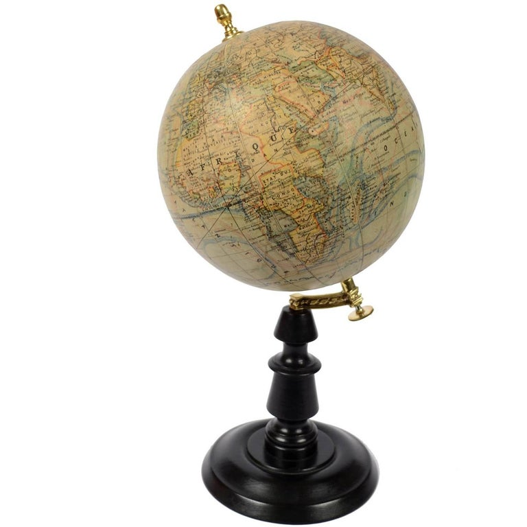 Terrestrial Globe Published in the Second Half of the 19th Century