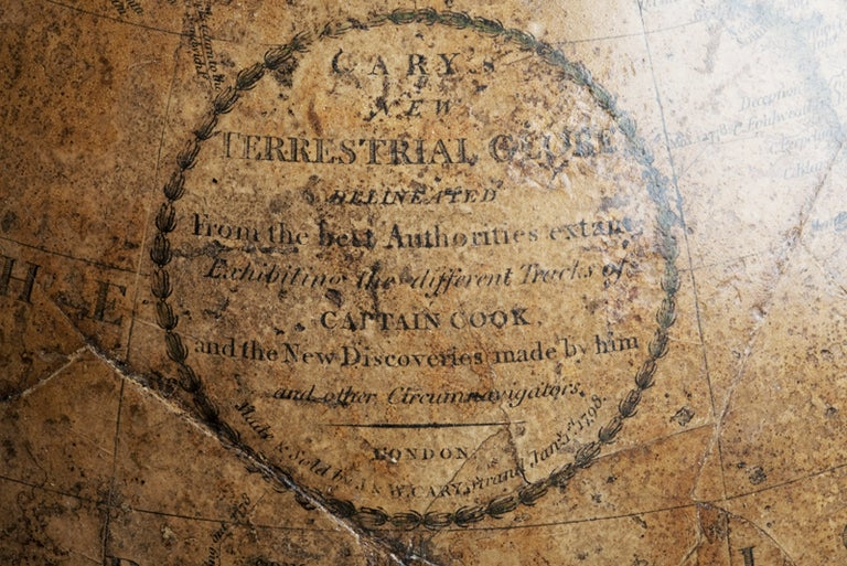 Terrestrial Globe, Signed Cary, London, 1789 In Good Condition In Milan, IT
