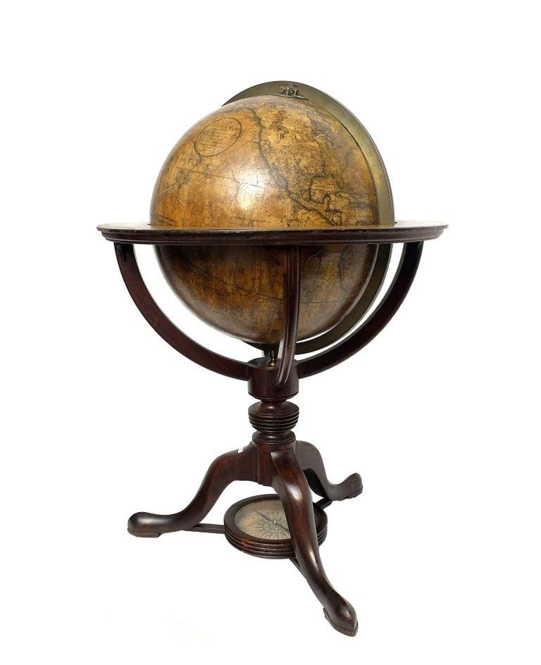 Metal Terrestrial Globe, Signed Cary, London, 1789