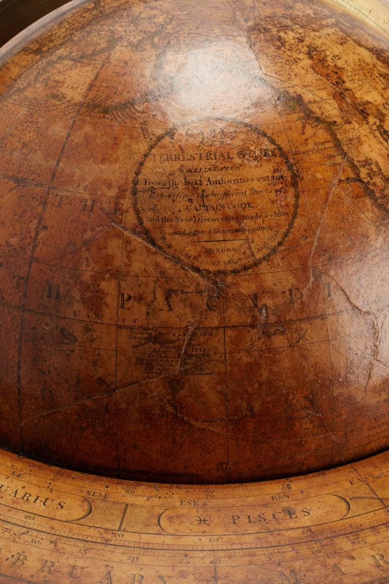 Large 'Papier Machè' terrestrial globe (12