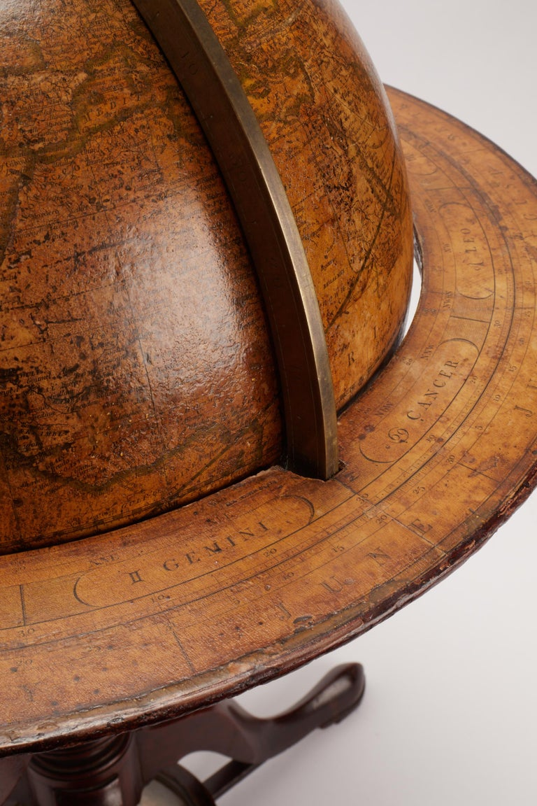 British Terrestrial Globe Signed Cary, London, 1798 For Sale