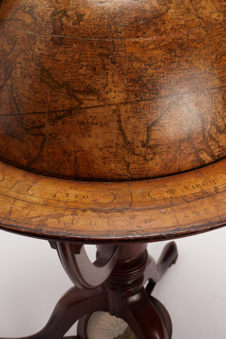 Terrestrial Globe Signed Cary, London, 1798 In Excellent Condition For Sale In Milan, IT