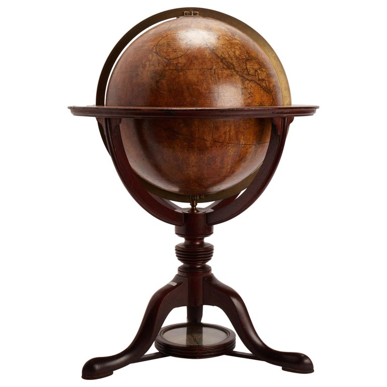 Terrestrial Globe Signed Cary, London, 1798 For Sale