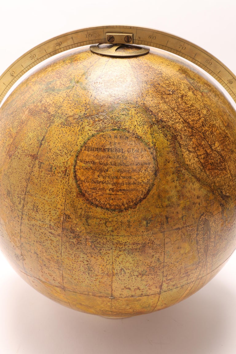 Terrestrial Globe Signed Cary, London, 1800 For Sale 4