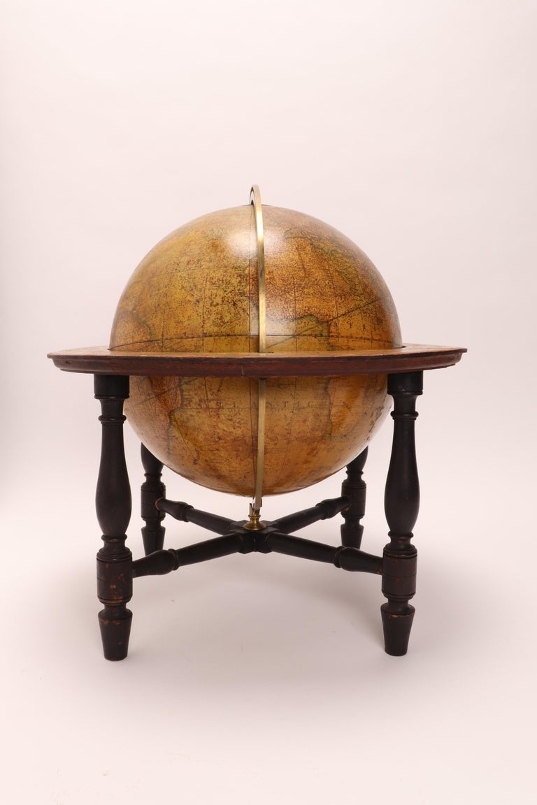Terrestrial Globe Signed Cary, London, 1800 In Good Condition For Sale In Milan, IT