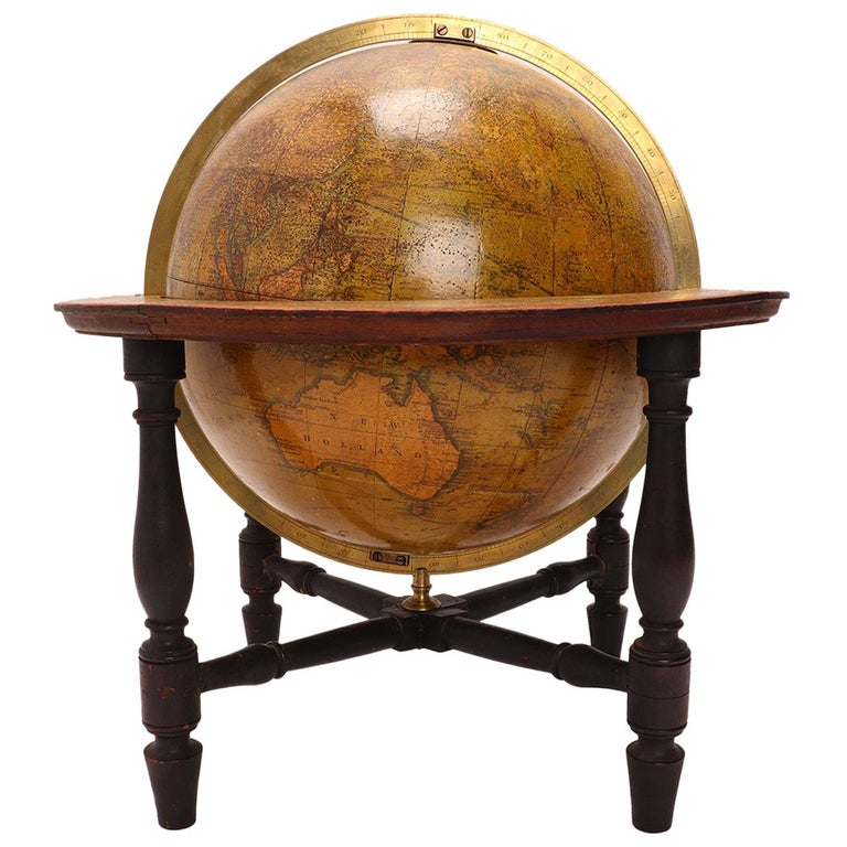 Terrestrial Globe Signed Cary, London, 1800 For Sale