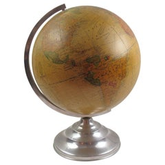 Terrestrial School Glass Globe Lamp by Barrere & Thomas France