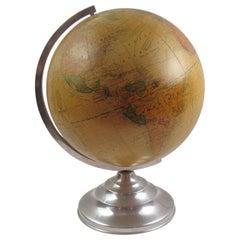 Terrestrial School Glass Globe Lamp by Barrere & Thomas France