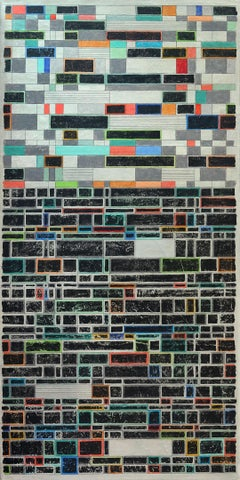 Linear Boxes, Abstract Painting