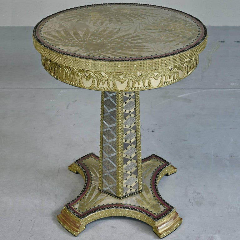 Italian Terrific Palmeto Side Table For Sale