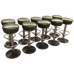 Terrific Set of 4 French Bar Stools