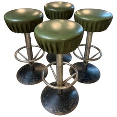 Terrific Set of 4 French Bar Stools