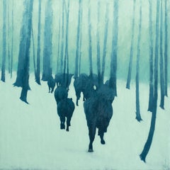 A Rancher's Winter (forest, cattle, trees, snow)