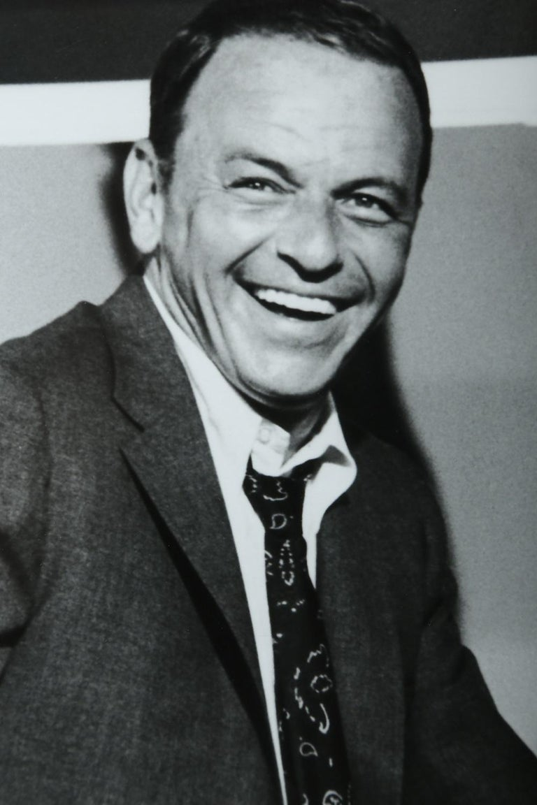 Mid-20th Century Terry O'Neill Black and White Photo of Frank Sinatra, 1968, Limited Edition