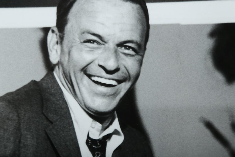 Terry O'Neill Black and White Photo of Frank Sinatra, 1968, Limited Edition 1