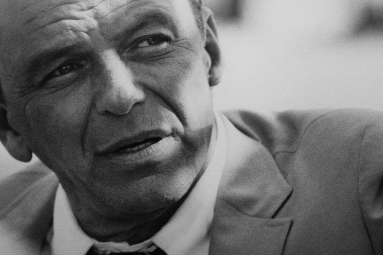 Terry O' Neill Black and White Photograph of Frank Sinatra in Miami, 1968 For Sale 5