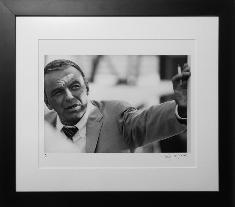 Black and white photograph of American singer and actor Frank Sinatra on set during the making of 'The Lady in Cement' in Miami, 1968. Limited Edition 10/50. Black and white. 20