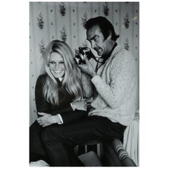 Terry O' Neill Photograph of Brigitte Bardot and Sean Connery, 1968