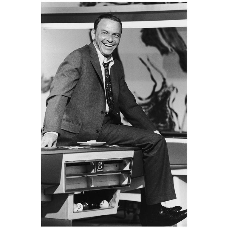 Terry O'Neill Black and White Photo of Frank Sinatra, 1968, Limited Edition
