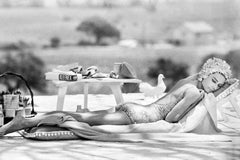 Audrey Hepburn Relaxing by a Pool, 1966