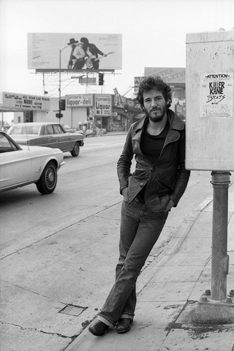 Terry O'Neill Black and White Photograph - Bruce Springsteen, Los Angeles, 1975