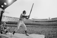 Elton John in Full Swing, Dodger Stadium, Los Angeles, 1975 - Terry O'Neill