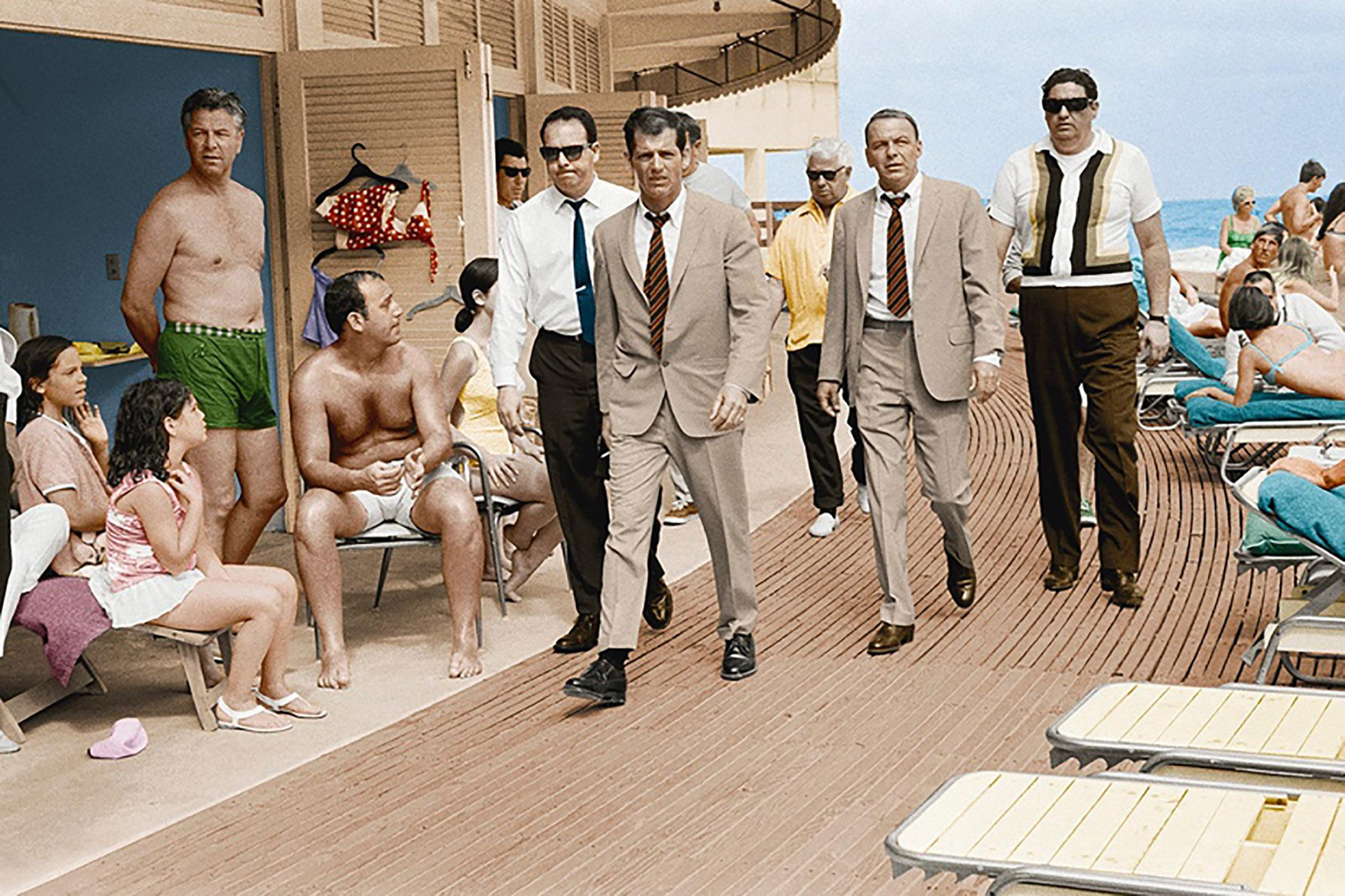 Frank Sinatra On The Boardwalk, Miami (Colorized) 1968 Hand Signed
