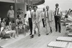 Frank Sinatra with Body Double and Security Team, Boardwalk, Miami Beach, 1967