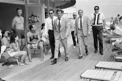 Frank Sinatra with his Stand-In and Bodyguards Arriving on Location, 1968