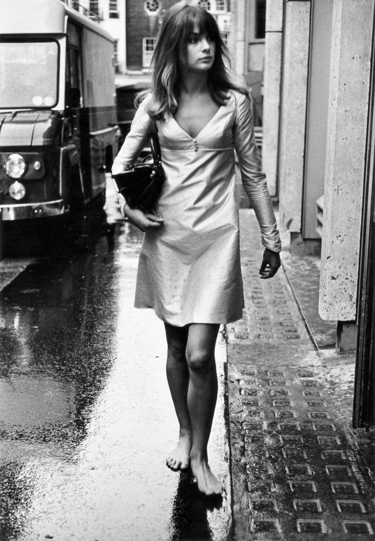 Jean Shrimpton, London, Early 1960s -Terry O'Neill (Black and White Photography) Signed and numbered Silver gelatin print, printed later From a limited edition of 50 + 10 APs  Photographing The Beatles and The Rolling Stones when they were still