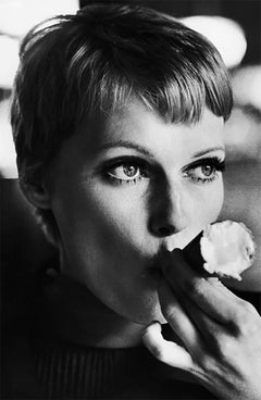 Mia Farrow Eating Ice Cream