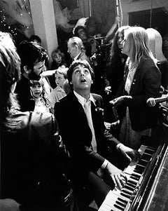 Paul McCartney at Ringo Starr's Wedding, London -Terry O'Neill (Black and White)