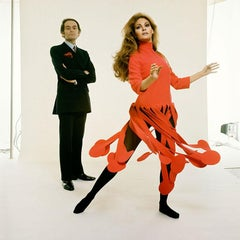Raquel Welch and Pierre Cardin