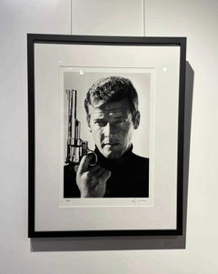 Roger Moore as Bond 007 with a 357 Magnum, 'Live and Let Die', 1973