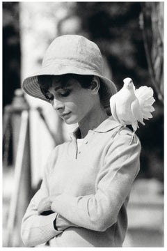 Terry O'Neill - Audrey Hepburn With Dove - signed limited edition