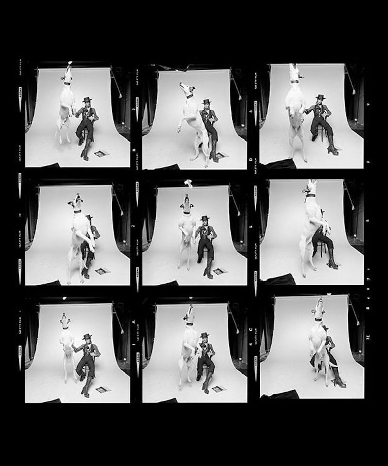 Terry O'Neill Black and White Photograph - David Bowie Diamond Dogs Contact Sheet